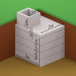 Погреб из квадратных секций 2 х 2