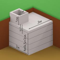 Погреб из квадратных секций 2 х 3